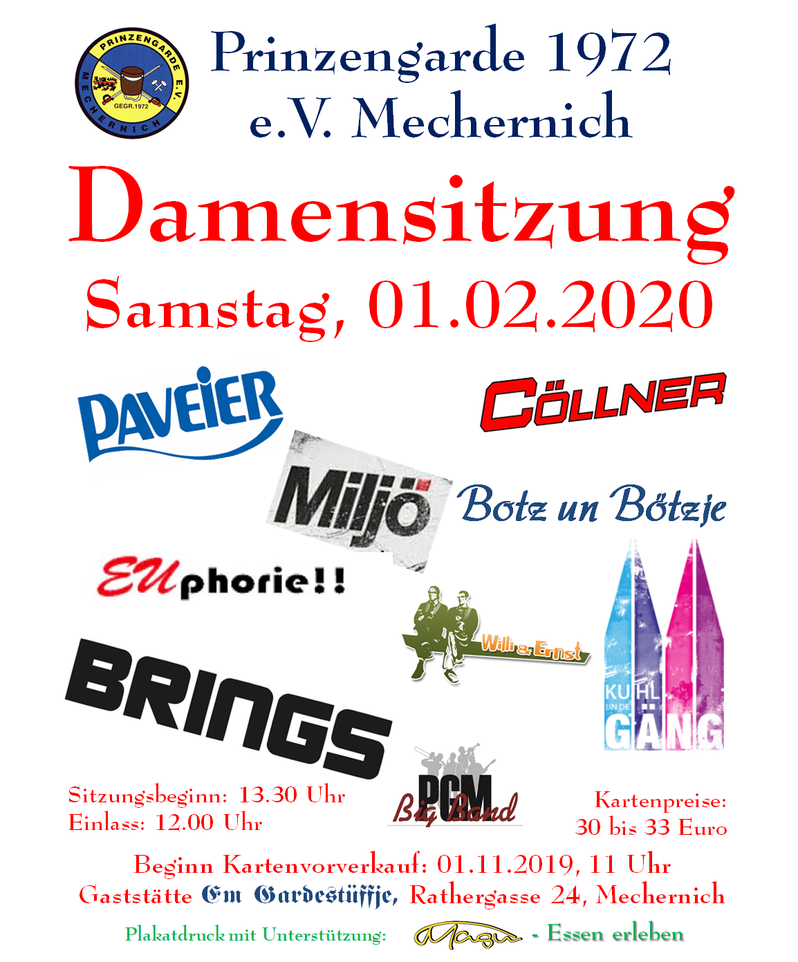 Damensitzung 2020